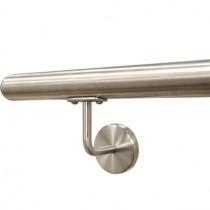 Handlauf mit 2 Stützen - Länge 201 bis 250 cm Edelstahl V2A