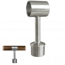 Handlaufstütze für Holzhandlauf Ø 42 mm Edelstahl V2A