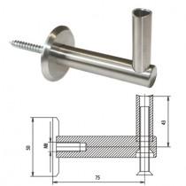 Handlaufträger für Rundrohr Ø 42,4 mm Edelstahl V2A