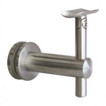 Handlaufträger mit Gelenk für Glas und Handlauf mit Ø 42,4 mm Edelstahl V2A