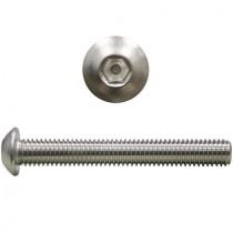 Linsenkopfschrauben ISO7380 M10x30 mm Edelstahl V2A