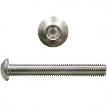 Linsenkopfschrauben ISO7380 M10x12 mm Edelstahl V2A