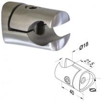 V2A Klemmhalter Einfassprofil für Rundrohr Ø 42,4 mm
