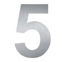 """Hausnummer """"5"""" 10 cm groß aus Edelstahl V2A"""