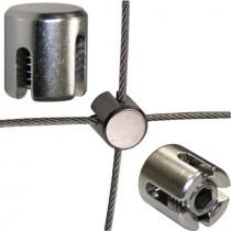 Drahtseil - Kreuzklemme für 2 mm Drahtseil Edelstahl V4A
