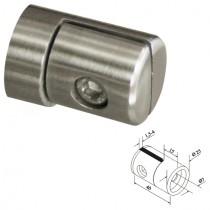 Blechhalter mit Ø 25 mm und flachem Anschluss Edelstahl V2A