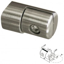 Blechhalter mit Ø 25 mm und Anschluss Ø 42,4 mm Edelstahl V2A