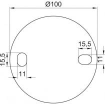 Ronde gelocht, Größe Ø 100 x 6 mm Edelstahl V2A