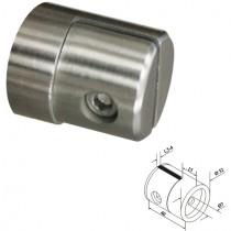 Blechhalter mit Ø 32 mm und flachem Anschluss Edelstahl V2A