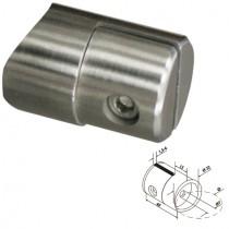 Blechhalter mit Ø 32 mm und Anschluss Ø 42,4 mm Edelstahl V2A