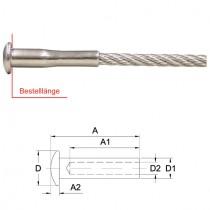 Linsenkopfterminal für 4 mm Drahtseil Edelstahl V4A