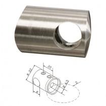 Querstabhalter für Ø 12 mm Stab und Rundrohr Ø 42,4 mm Edelstahl V2A