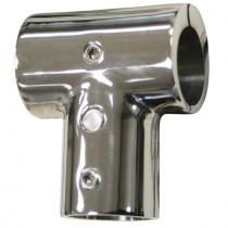 Relingfitting T-Stück klappbar für Rundrohr Ø 22 mm Edelstahl V4A