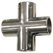 Relingfitting Kreuzverbindung für Rundrohr Ø 25 mm Edelstahl V4A