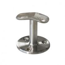Handlauf - Relingstützen für Rundrohr Ø 42,4 mm und Platte mit 135° Winkel Edelstahl V2A