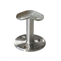Handlauf - Relingstützen für Rundrohr Ø 42,4 mm und Platte mit 90° Winkel Edelstahl V2A