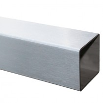 25 cm Vierkantrohr 100 x 100 x 2,0 mm, Edelstahl V2A geschliffen