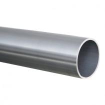 250 cm Rundrohr Ø 101,6 x 2,0 mm, Edelstahl V2A geschliffen