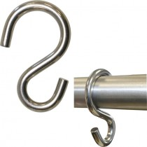 Kleiderhaken, passend für Rundrohr Ø 33,7 mm Edelstahl V2A