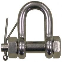 Schäkel mit Sicherung, Materialstärke 6 mm Edelstahl V4A
