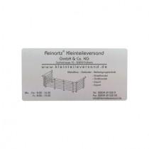 Schild 200 x 100 mm, mit Gravur nach Kundenwunsch Edelstahl V2A