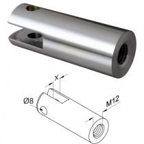 Adapter für Punkthalter mit 6,6 mm Spaltmaß Edelstahl V2A