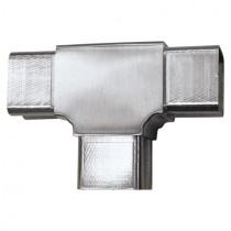 Steckfitting T-Stück, für Rohr 40 x 40 x 2 mm Edelstahl V2A