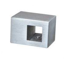Querstabhalter für 12x12 mm Stab und Vierkantrohr Edelstahl V2A
