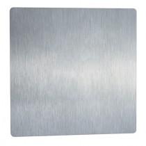 Vierkantplatte ohne Lochung geschliffen Edelstahl V2A