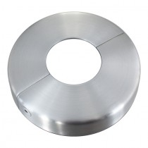 Abdeckrosette teilbar mit Ø 105 mm, Mittelloch Ø 42,5 mm Edelstahl V2A