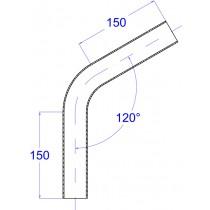 Rohrbogen, aus Rundrohr 120° Edelstahl V2A