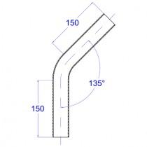 Rohrbogen, aus Rundrohr  135° Edelstahl V2A