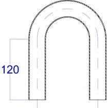 Rohrbogen, aus Rundrohr  180° Edelstahl V2A