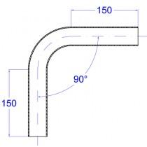 Rohrbogen, aus Rundrohr 90° Edelstahl V2A