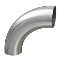 Einschweißbogen 90°  Form 5S für Rundrohr Edelstahl V2A geschliffen