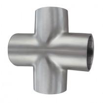 Einschweißbogen Kreuzform für Rundrohr Edelstahl V2A geschliffen