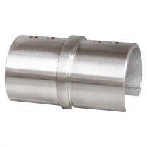 Rohrverbinder für Glasleistennutrohre Edelstahl V2A
