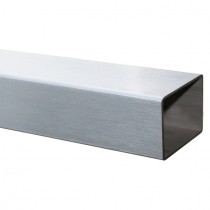 Vierkantrohr 100 x 50 x 2,0 mm, Länge 100 mm Edelstahl V2A