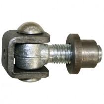 Torband mit Einschweißmutter Stahl teilverzinkt