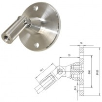 Vordachsystem, Anschluss: Wand-Zugstab, Platte Ø 120 x 10 mm Edelstahl V2A