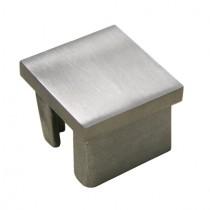 Vierkantrohrstopfen flache Form Edelstahl V2A