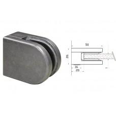 Glasklemme Modell 00 für Vierkantrohr Zinkdruckguß